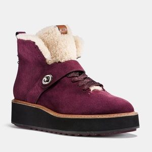 New Coach Urban Hiker Suede Boots, Size 8B